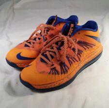 Nike Air Max Lebron X Low 579765-800 Mens Size 8 Orange Blue Athletic Basketball