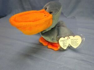 SCOOP Ty Beanie Baby 1996 with tags/errors P.V.C. Pellets