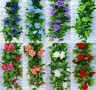 2.4m Artificial Silk Rose Flower Ivy Vine Store Hanging Garland Wedding Decor