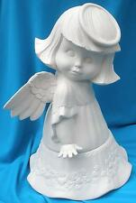 LARGE SWEET TOT ANGEL #2        CERAMIC BISQUE ANGELS