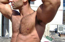 Shirtless Beefcake Male Huge Biceps Hairy Chest Arm Pits PHOTO PINUP 4X6 P1436