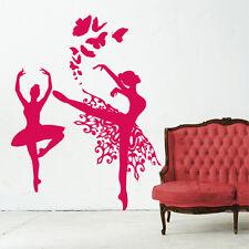 00703 Wall Stickers Sticker Adesivi Muro Murali Ballerine con farfalle 122x160cm