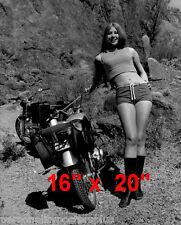 """Biker Babe~Honda~Motorcycle~Garage Poster~Photo~Poster~16"""" x 20"""""""