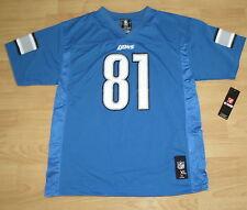 DETROIT LIONS CALVIN JOHNSON #81 JERSEY SIZE YOUTH XL - BLUE