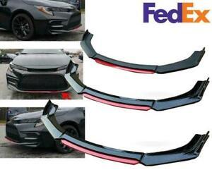 For Toyota Corolla 1990-2021 Gloss Black Front Bumper Lip Body Kit Splitter US