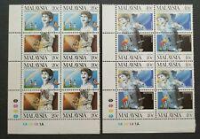 1987 Malaysia International Conference Drug Abuse Stamps xB4 sets MNH OG (Lot B)