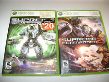 Supreme Commander 1 AND 2 - BOTH GAMES (Microsoft Xbox 360, 2008)