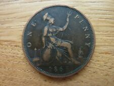 1865 Victoria One Penny (ref17c)