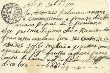 San Prugnano Regno di Etruria Napoleone Bonaparte 1811 Documento Manoscritto