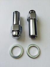 8x chrome Revolution Wheels Nuts 7/16unf sleeve nut 11/16 Shank