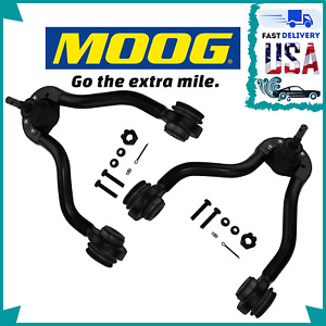 SET OF 2 MOOG Front Upper Control Arms & Ball Joints for Cadillac Chevy GMC