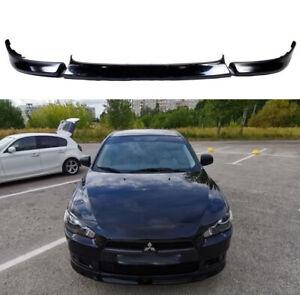 Front Lip for Mitsubishi Lancer X 07-12 3pcs Central Insert V2 + fangs Bumper KL