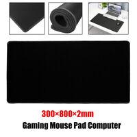 30x80cm Negro Juego Grande Ratón Alfombrilla Escritorio Teclado Anti Sin Para PC