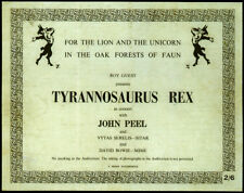 DAVID BOWIE & T REX REPRO 1969 CONCERT TICKET LION UNICORN OAK FORESTS FAUN TOUR
