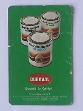 CALENDARIO PINTURAS DURAVAL. AÑO 1976.(Ver descripción estado)