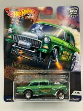 Hot Wheels Real Riders 55 Chevy Bel Air Gasser (Tri-Me) Mibp 2018