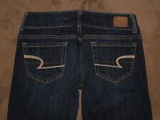 American Eagle Size 2 Reg Artist Flare Dark Blue Stretch Denim Womens Jeans