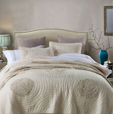 Reversible Quilted Cotton Patchwork Coverlet Bedspread 3pc Set King/Super King