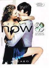 PUBLICITE ADVERTISING 114  2008  AZZARO   parfum NOW lauréat GRAND PRIX DESIGN