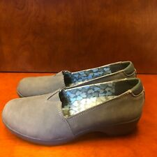 "Skechers~~Flexible Fit~~8 M~~SN48669~~Gray Leather~~ Memory Foam~~2""  Wedge Heel"