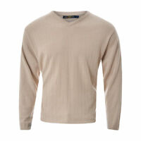 Henri Lloyd Hommes Pull Tricot Taille L Col V Cardigan Long Manche Authentique