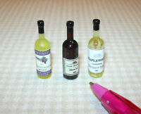 Miniature Wine Bottle Assortment #1 for DOLLHOUSE Miniatures 1/12 Scale