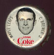 1964 65 COCA-COLA COKE BOTTLE CAP WITH CORK CARL BREWER TORONTO MAPLE LEAFS