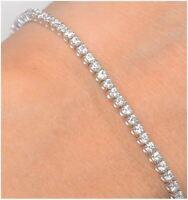 Diamant Armband Tennis Bracelet 78 Brillanten 2,0ct VS G in 14K 585er Gold Weiß