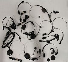 Huge Mixed Lot of Plantronics GN Networks Wired Headband Earpiece Mic Microphone