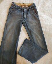 Rogan Vintage Retro Men's Blue Jeans Denim Size W31 L33 Straight Boot Cut Casual