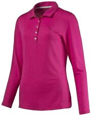 Puma Women's Long Sleeve Golf Polo Shirt - Betroot Purple