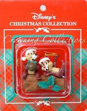 Disney Christmas Collection Chip 'n' Dale Ornament Chipmunks on Log and Store