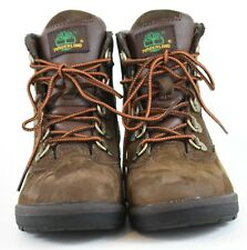 Timberland Toddler Field Hiking Boots Size 12 Dark Brown & Olive Green 44892