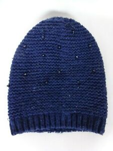 Bonnet Femme laine grosse maille crochet strasse Taille: XS Tour de tête:52cm