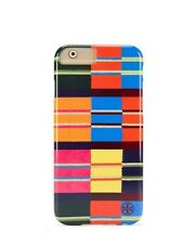 Tory Burch Rugby Stripe Colorful Pink Hardshell Iphone 6 Case  NWOB