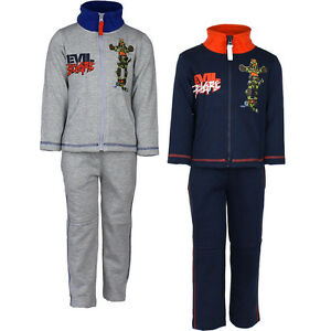 New Jogging Suit Set Sport Casual Children Turtles Grey Blue 98 104 116 128 #83
