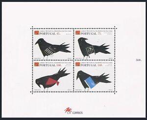 Portugal 1999a sheet,MNH.Michel Bl.100. Birds,1994.Music,Theater,Ballet,Art