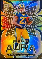 Darrell Henderson 2019 Spectra Rookie Aura Prizm 07/99 L.A. Rams