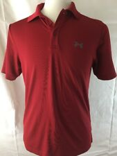 Under Armour Red Polo Shirt Mens Size XL Dri Fit Sports