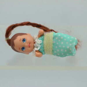 """Barbie Baby Sister Krissy 3"""" Doll Blue Bunting Rooted Red Hair 1993 Mattel"""