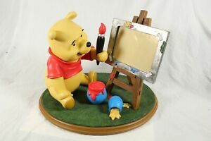 RARE Disney Winnie The Pooh Artist Photo Frame Large Statue Figure 50cm x 37cm