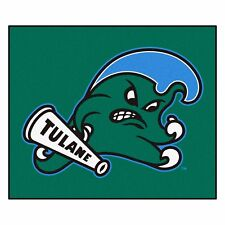Tulane Green Wave 5' X 6' Tailgater Area Rug Floor Mat