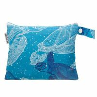 Small Waterproof Wet Bag with Zip 19 x 16cm - Turtles Design