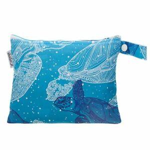 Small Waterproof Wet Bag with Zip 19 x 16cm - Turtles Design