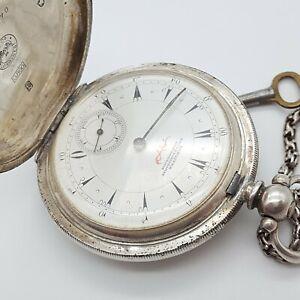 Longines Osmanische 800 Silber Taschenuhr - Läuft - Osmanli -  63