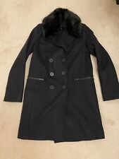 French Conmection Navy Coat Size 6 VGC