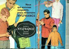 Publicité Advertising 039  1957   vetements ski Nylfrance nylon Euope 1 RTL (2p