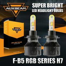 AUXBEAM RGB H7 Car 56W LED Headlight DRL Driving Bulbs Kit APP Bluetooth Control
