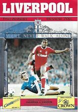 Football Programme>LIVERPOOL v EVERTON Dec 1988