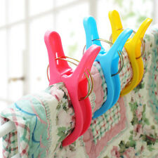 4Pcs Big Laundry Wash Hanging Clips Beach Towel Sun Lounger Clothes Pins Pegs